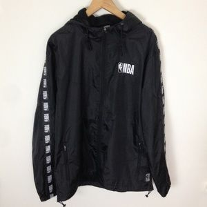 NBA Black White Zip Athletic XL Jacket